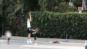 Blake Griffin Airballs & Bricks Shots In Pickup Game W/ Kids, Quarantine Rust?