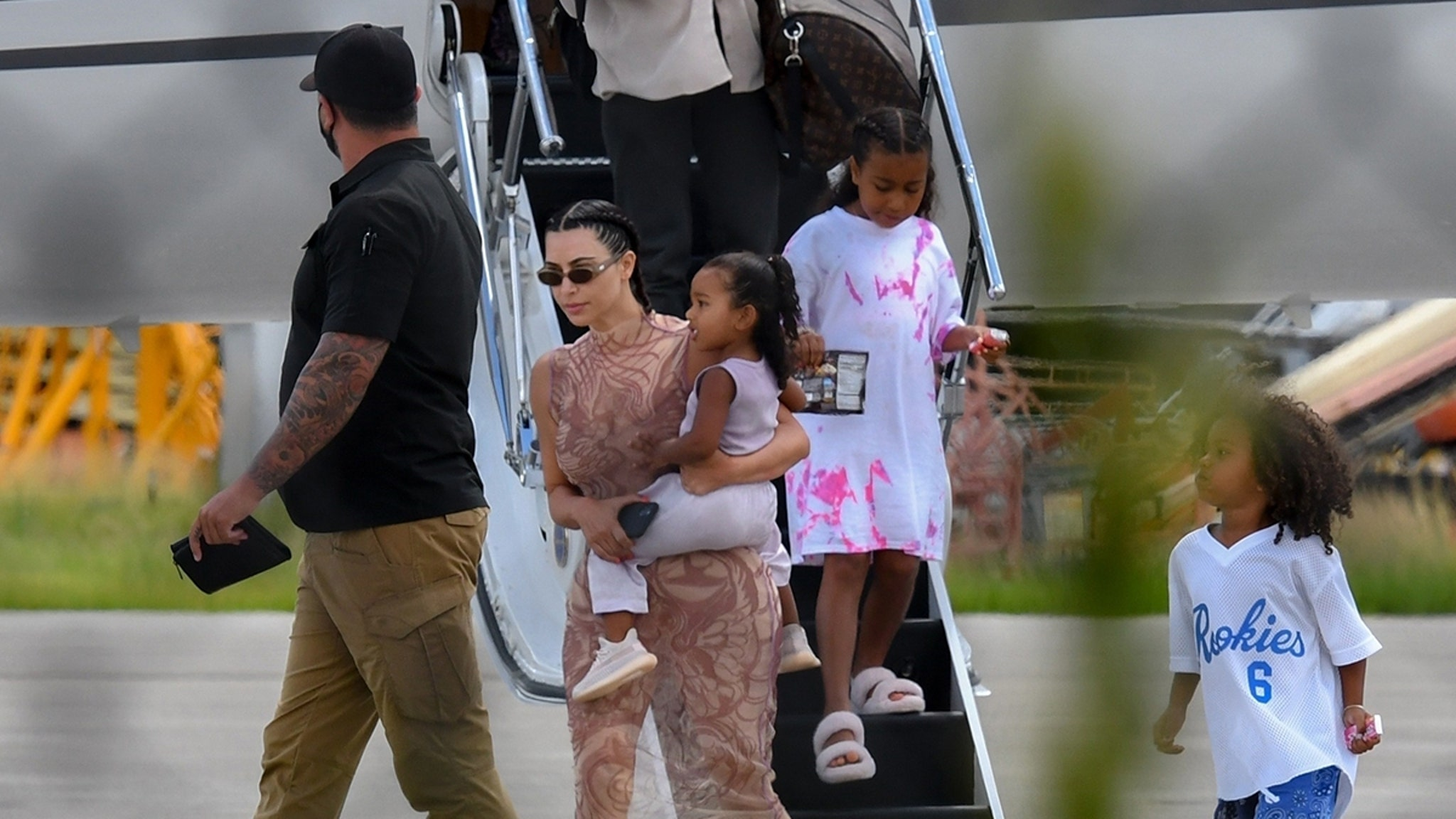 Kim and Kanye Touchdown in Miami ... Next Stop, Glamping