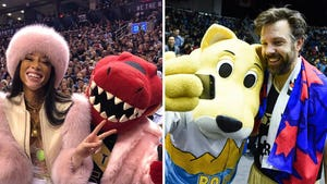Celebrities With NBA Mascots