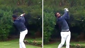 LeBron James Shows J.R. Smith Love During 1st College Golf Tournament