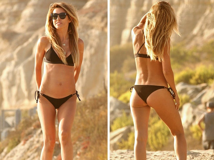 Audrina Patridge's Hot Beach Bod -- Back in Black!