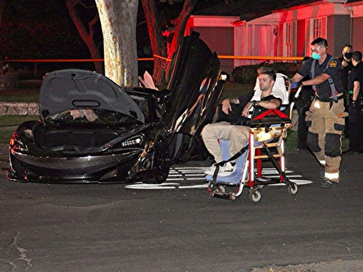 Daniel Silva and Corey La Barrie Car Crash Photos