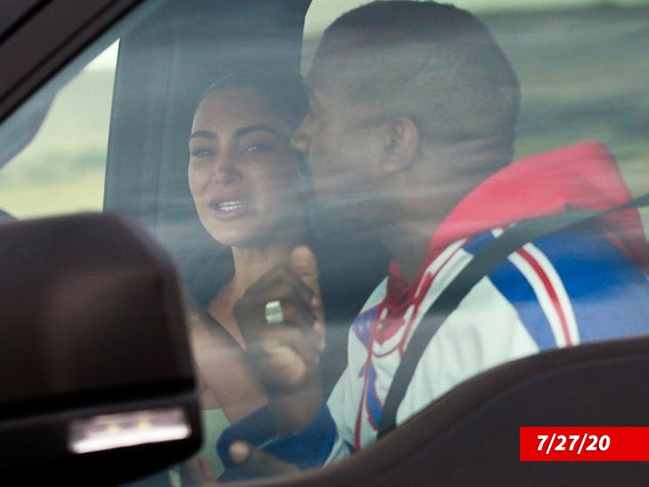 Kim and Kanye -- Tearful Reunion
