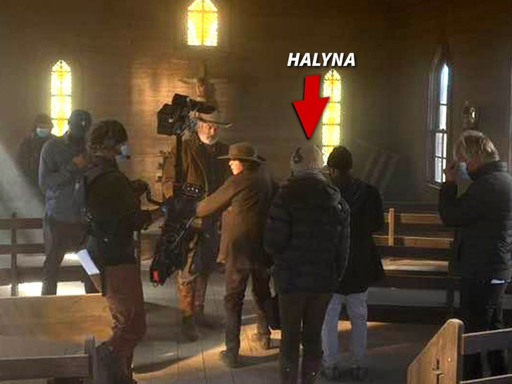 halyna hutchins on set of rust
