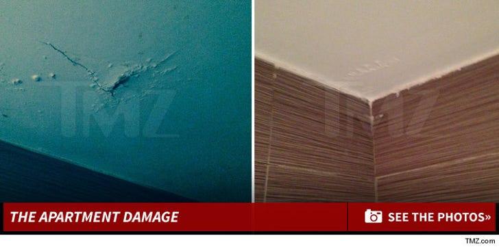 Sean Stewart's Apartment Damage