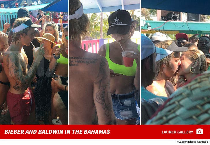 Hailey Baldwin -- Flashing Engagement Bling With Bieber in the Bahamas