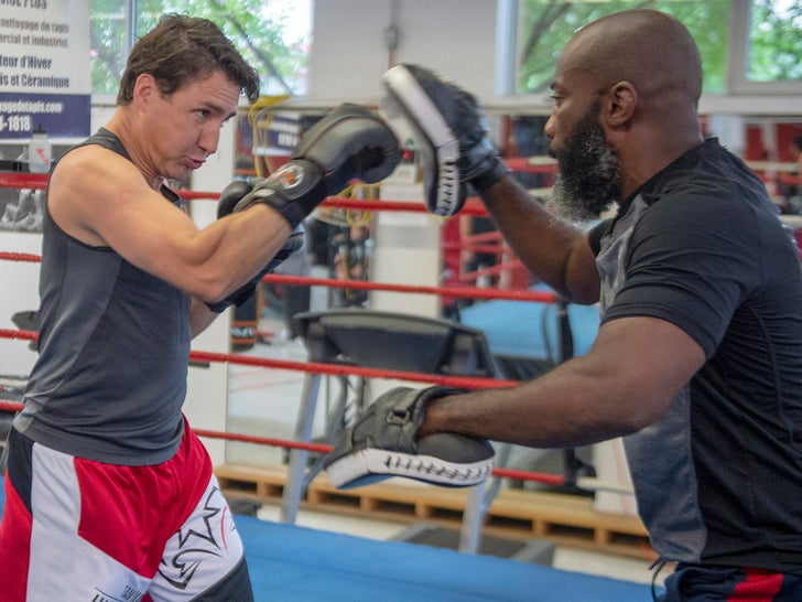 Justin Trudeau -- Feeling Punchy While Boxing With Ali Nestor