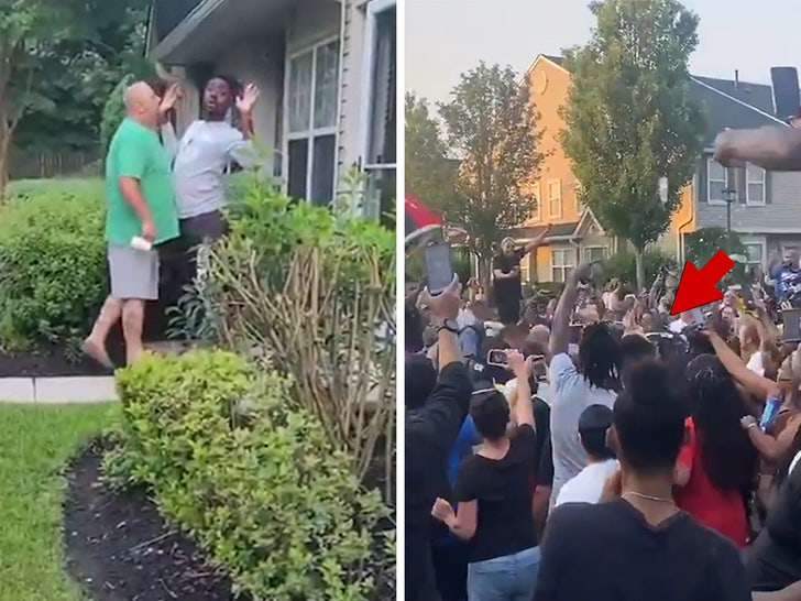 Man Gives Out Address Amid Racist Rant, Pelted By Protesters During Arrest.jpg