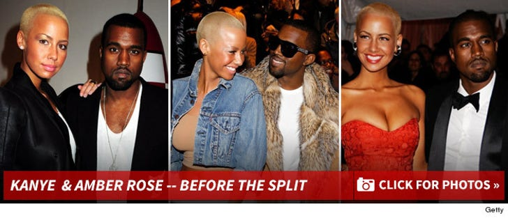 Amber Rose & Kanye West -- Before the Split