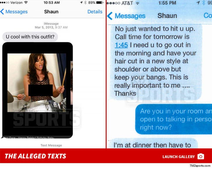 Shaun White -- The Alleged Text Messages