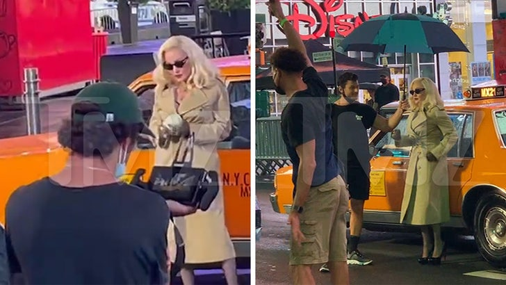Madonna Struts Her Stuff During Overnight VMA Shoot in Times Square