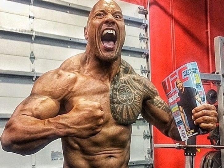 The Rock's Shredded Photos