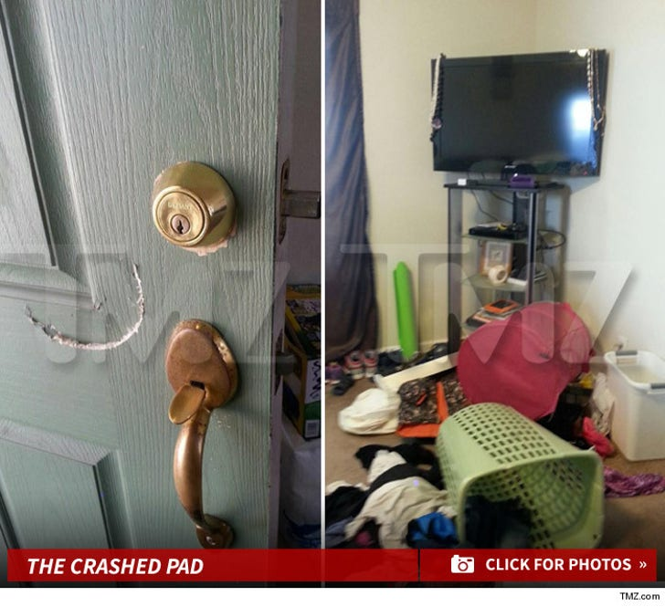 Jeremy 'Dreamy McMug' Meeks -- Cops Bash in Door to Serve Search Warrant