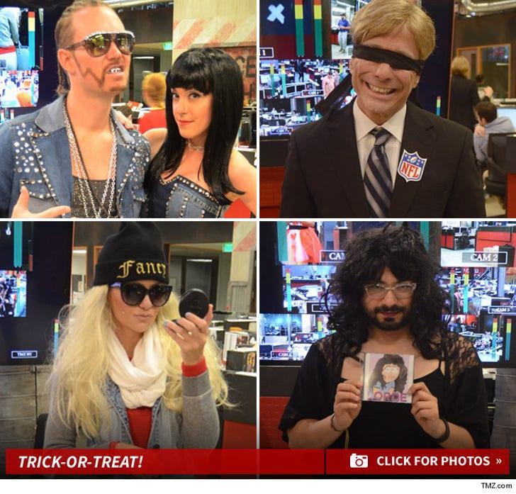 TMZ Staff Halloween -- Roger Goodell, Bynes And Lorde