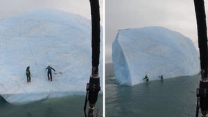 Giant Iceberg Flips Over on Explorers Trying to Climb It