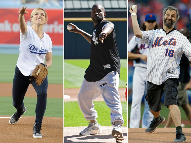 Celebs Throwing Out The First Pitch