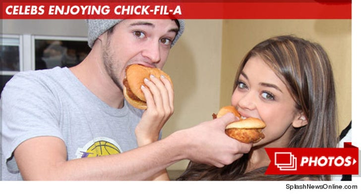 Celebrities Enjoying Chick-Fil-A