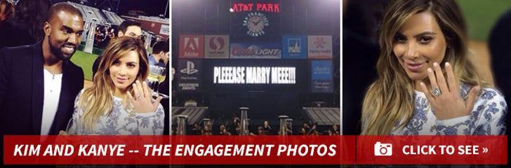 Kim and Kanye's Engagement Photos