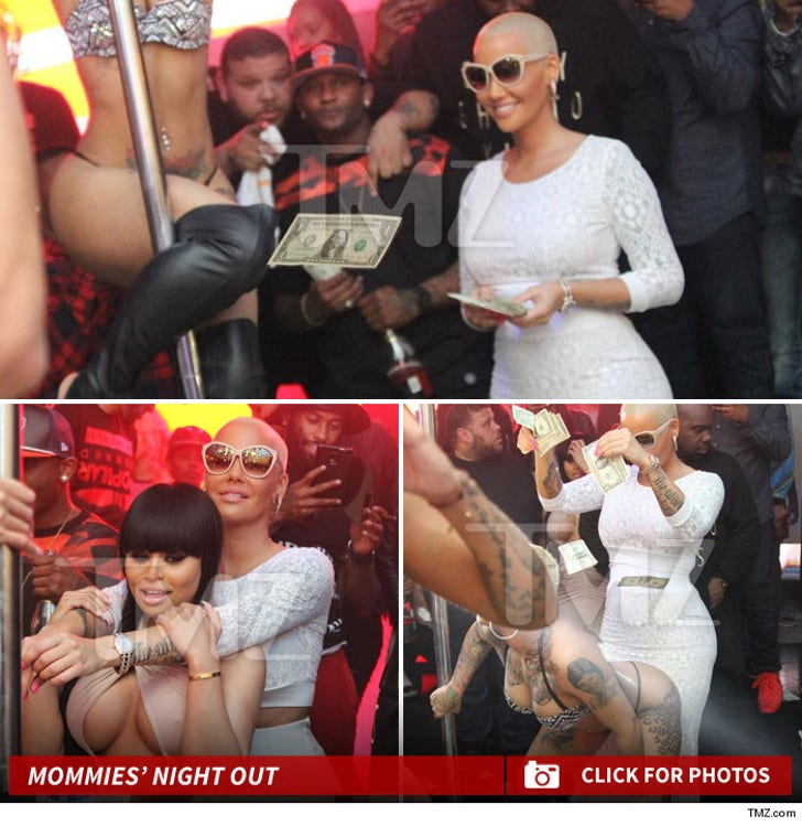 Amber Rose & Blac Chyna -- Mommies' Night Out