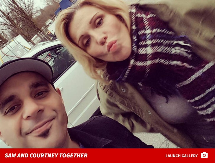 Sam Lutfi and Courtney Love Together
