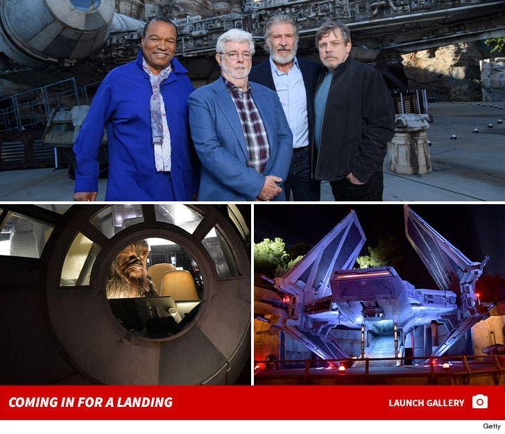 Disneyland's 'Star Wars' Attraction Opens with Luke, Han, Lando on Hand