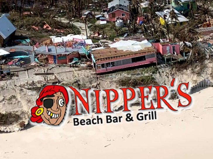 Nipper's Bar & Grill Damage From Hurricane Dorian