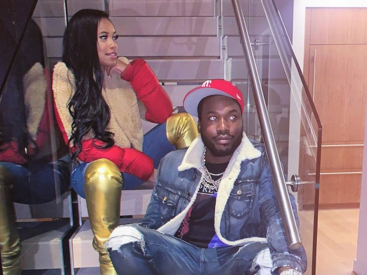 Meek Mill and Milan Harris -- The Proud Parents
