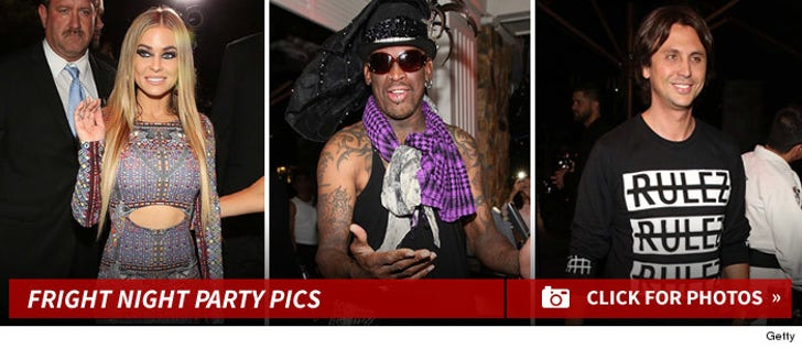 Carmen Elctra & Dennis Rodman -- The Fright Night Party Pics
