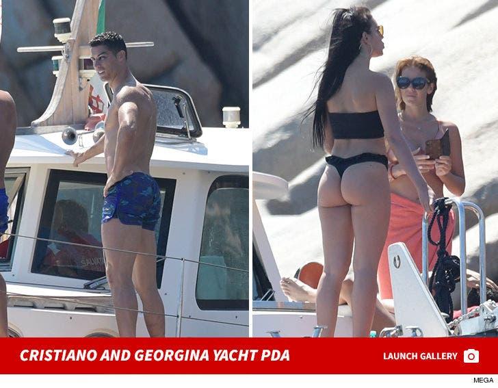 Cristiano Ronaldo and Georgina Rodriguez PDA On Sardinia Yacht