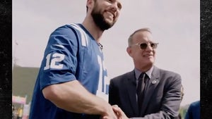 Tom Hanks Meets Andrew Luck, Do You Get Made Fun Of A Lot?