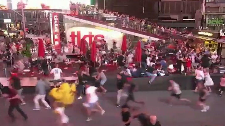 Times Square Panic After Motorcycle Backfire Causes Multiple