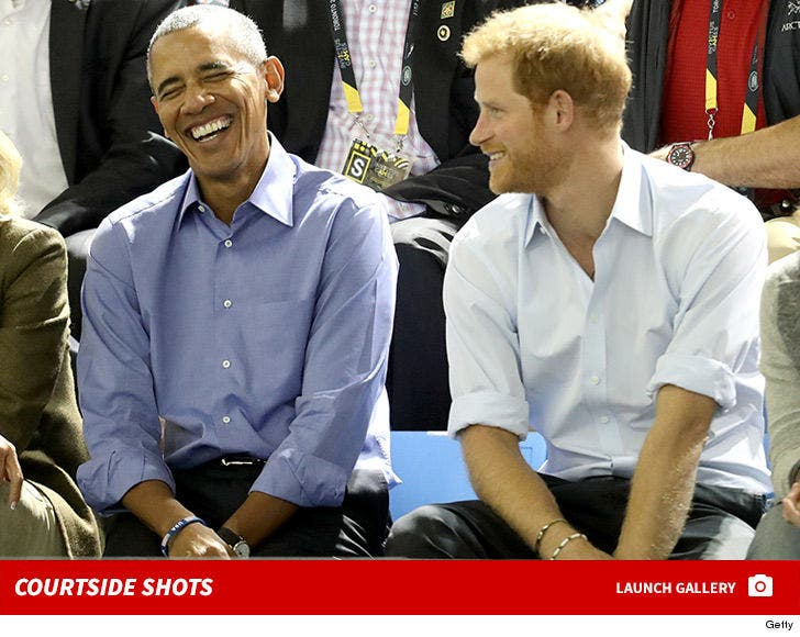Barack Obama and Prince Harry Courtside at Invictus Games