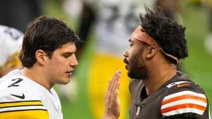 Myles Garrett Daps Up Mason Rudolph After Game, Helmet Attack Forgiven?!