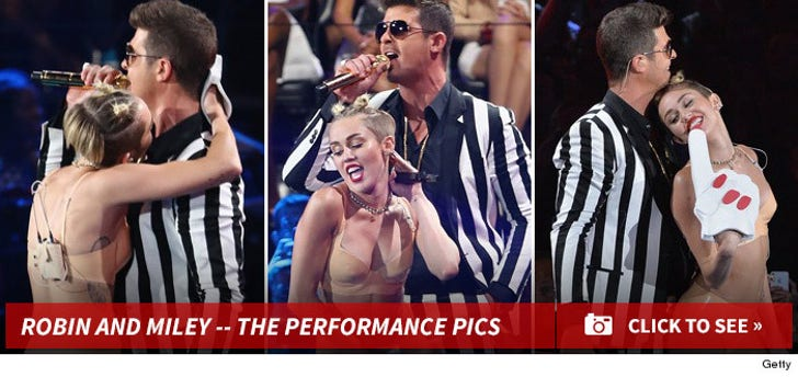 Miley Cyrus and Robin Thicke Performance Photos!