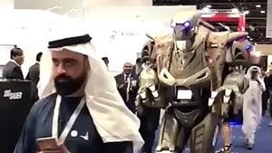 Giant Robot Mistaken for Monarch of Bahrain's Bodyguard