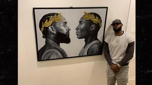 LeBron James Honors Kobe & Nipsey With Hallway Art, 'Wit Me Every Single Day'