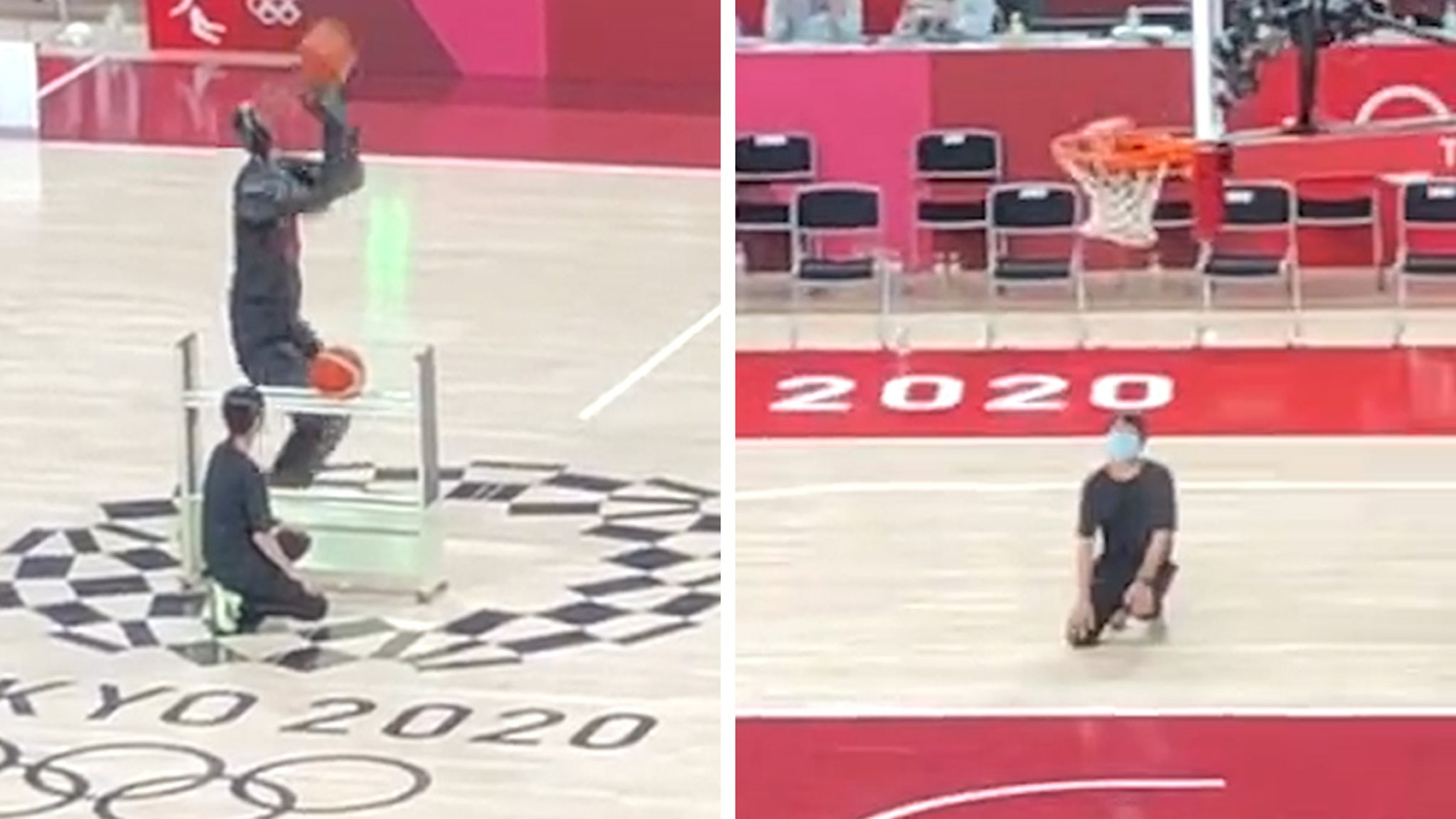 Basketball Robot at Tokyo Olympics Drowns Half-Court Shot, No Problem