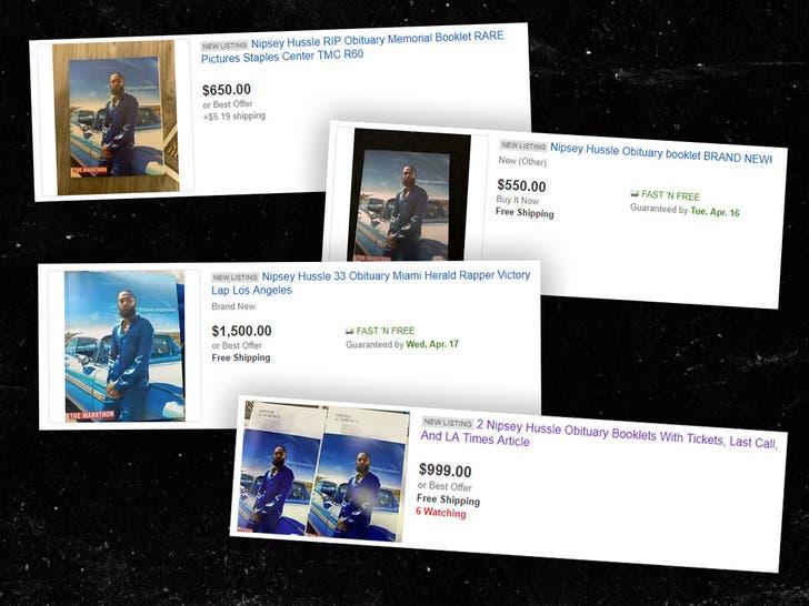 Nipsey Hussle S Free Memorial Programs Selling On Ebay For Big Money