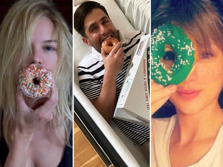 Celebrities Eating Donuts