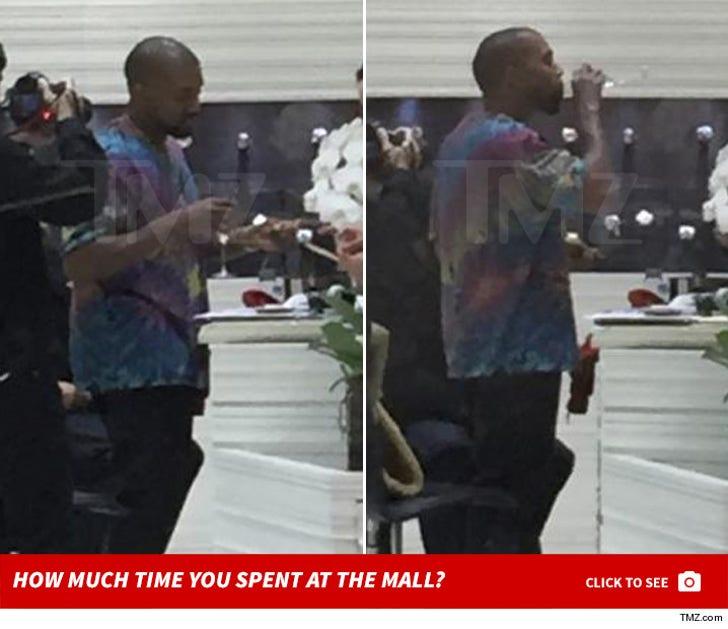 Kanye West Shopping at Jacob & Co.