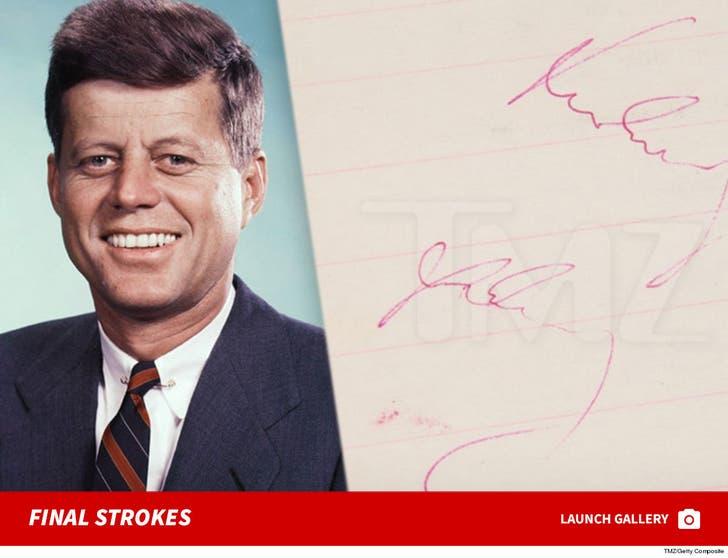 JFK's Final Autograph Hits Auction Block