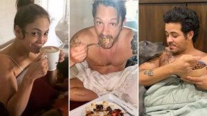Celebs Eating Breakfast In Bed -- Delish!