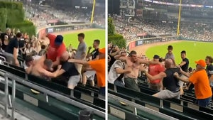 Shirtless MLB Fan Eats Flurry Of Punches In Wild Brawl At White Sox Game