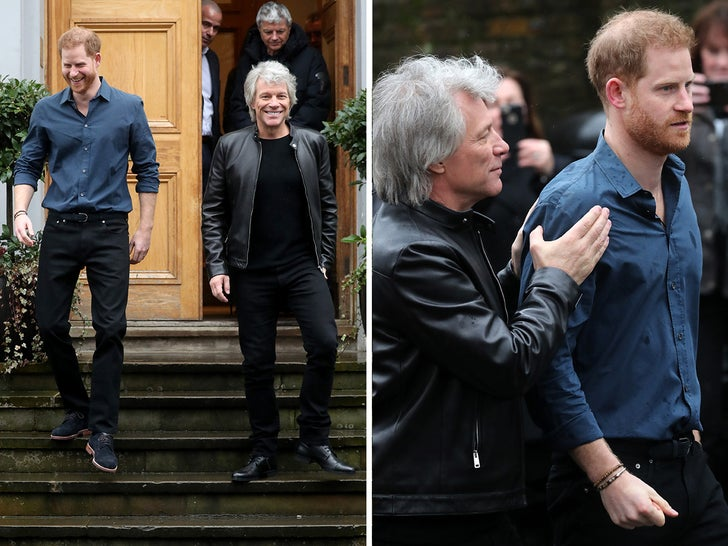 Prince Harry and Bon Jovi on Abbey Road