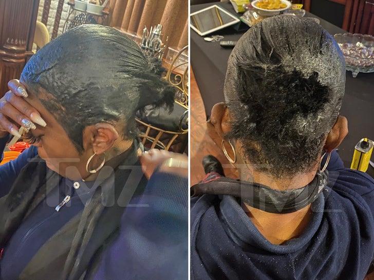 Tessica Brown's Gorilla Glue Haircut
