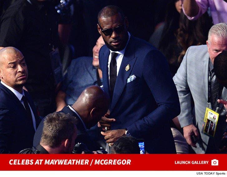 Celebrities At Mayweather / McGregor
