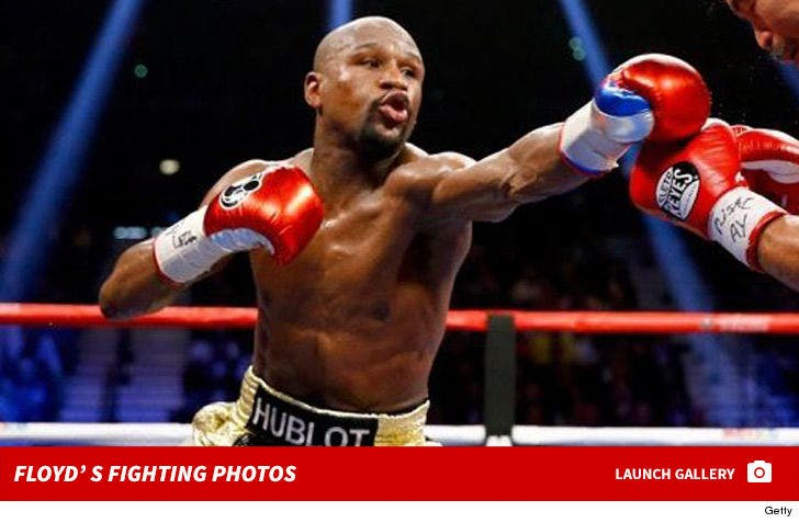 Floyd Mayweather's Fighting Photos
