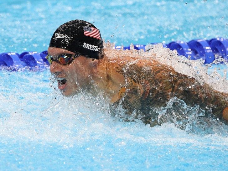 Caeleb Dressel Swimming At The Tokyo Olympics