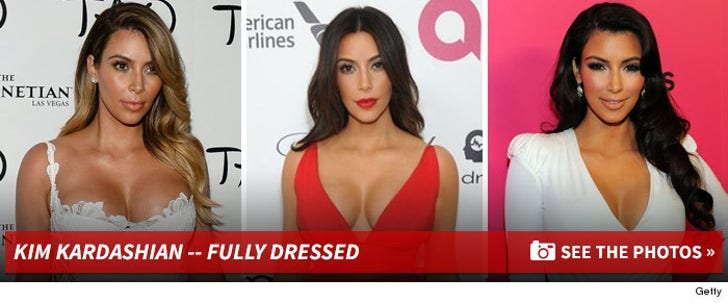Kim Kardashian -- Fully Dressed!