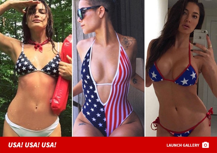 Stripped-Down Patriotic Babes